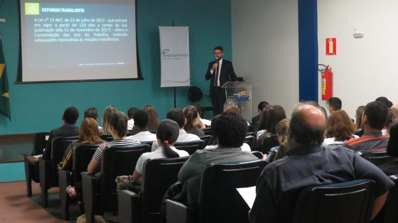 Sindicomércio GV e Fecomércio MG realizam palestra  sobre a Reforma Trabalhista