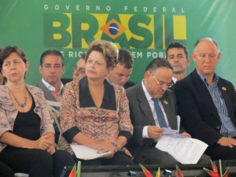 Presidente Dilma visita Governador Valadares