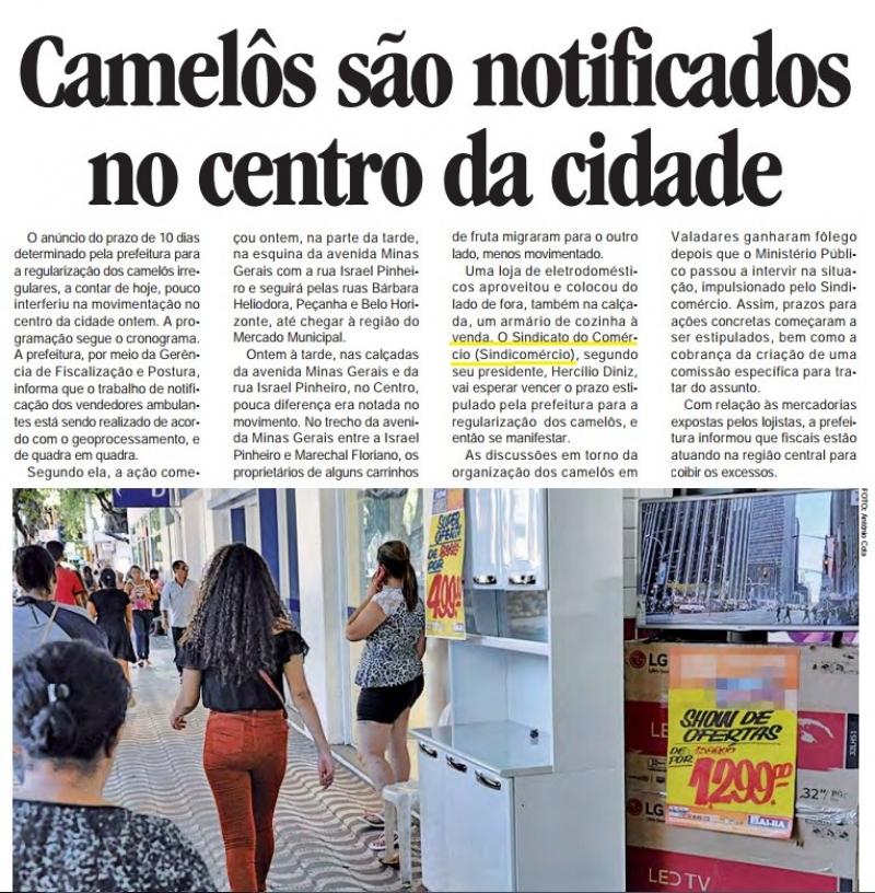 Camelôs são notificados no centro da cidade