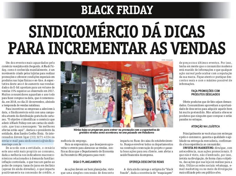 Black Friday: Sindicomércio dá dicas para incrementar as vendas