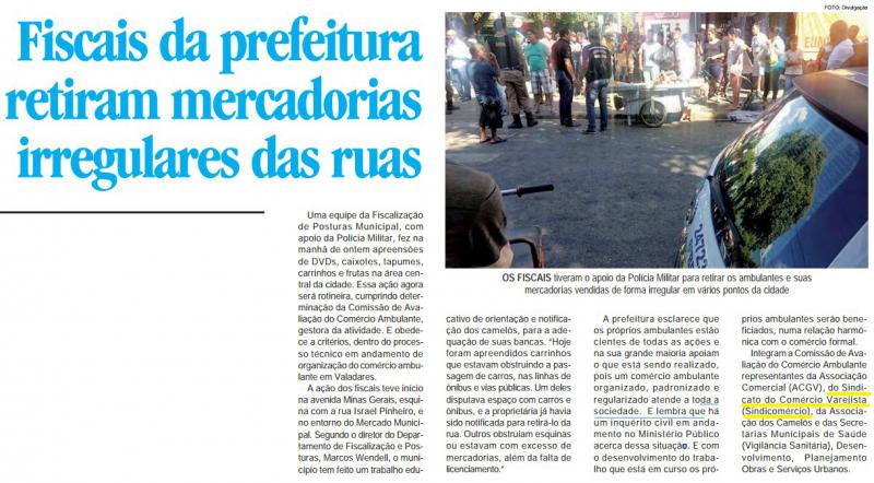 Fiscais da prefeitura retiram mercadorias irregulares das ruas