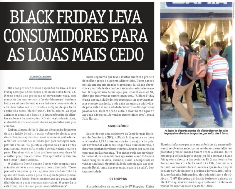 Black Friday leva consumidores para as lojas mais cedo