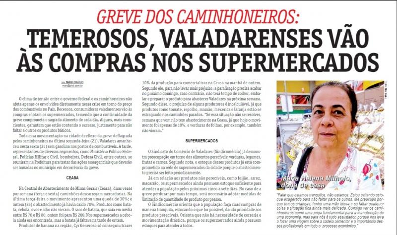 Greve dos caminhoneiros: Temerosos, Valadarenses vão às compras nos supermercados