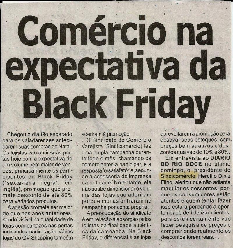 Comércio na expectativa da Black Friday